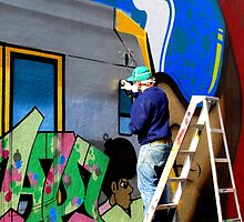Artist at Work (May Lane 2011) by Janie. D