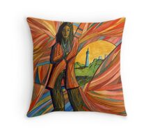 132 - LOST IN FRANCE - DAVE EDWARDS - WATERCOLOUR - 2003 Throw Pillow