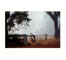 View from my front gate Art Print