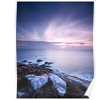 Midway between Botallack and Pendeen Lighthouse Poster