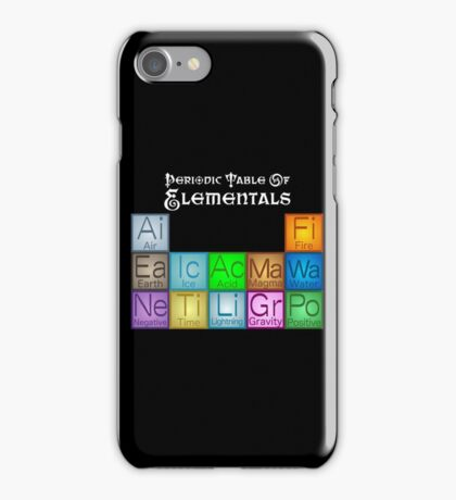 Periodic Table of Elementals iPhone Case/Skin