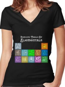 Periodic Table of Elementals Women's Fitted V-Neck T-Shirt