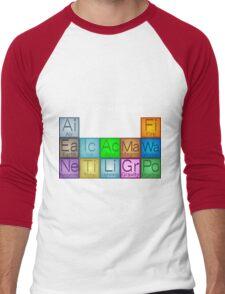 Periodic Table of Elementals Men's Baseball ¾ T-Shirt