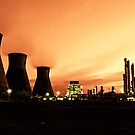 Grangemouth Refinery by Night by Chris Cherry