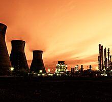 Grangemouth Refinery by Night by Chris Cherry