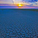 Cracked Sand Sunset by Adam Kennedy