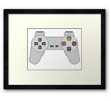 Playstation Controller pixel Framed Print