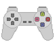 Playstation Controller pixel Photographic Print