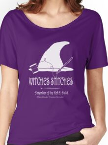 Witches Stitches H.A.G. Guild - White Design Women's Relaxed Fit T-Shirt