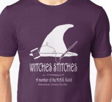 Witches Stitches H.A.G. Guild - White Design Unisex T-Shirt