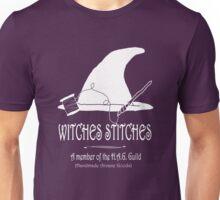 Witches Stitches H.A.G. Guild - White Design Unisex T-Shirt