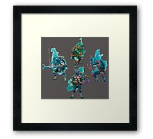 TMNT Watercolor Framed Print