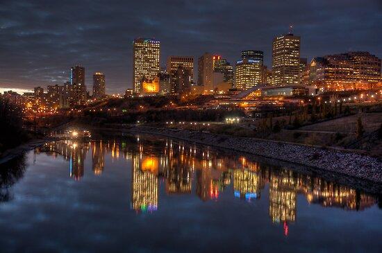 Edmonton (AB) Canada  City new picture : camfischer › Portfolio › Cloudy evening over Edmonton, AB Canada