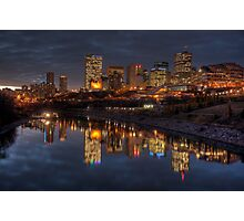 Cloudy evening over Edmonton, AB Canada Photographic Print