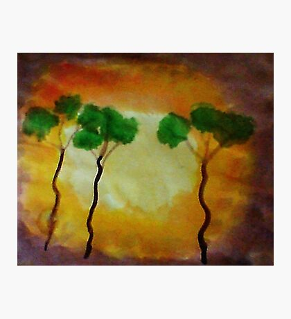 More funny trees, watercolor Photographic Print