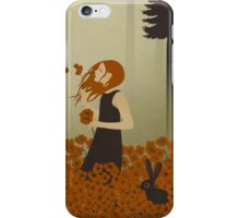 Red Hair & Red Poppies iPhone Case/Skin