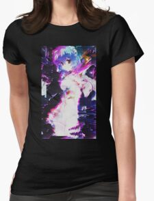 Neon Genesis Evangelion - Rei Ayanami - Pixel Sorting - Glitch Art Womens Fitted T-Shirt