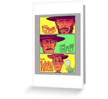 The Good, The Bad and Woody Greeting Card