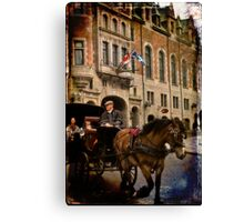 Horse & Carriage, Quebec City Canvas Print