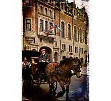 Horse & Carriage, Quebec City Photographic Print