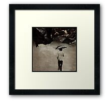 A weather of Paper Framed Print