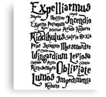 Harry Potter Spells, Magic Spelling Canvas Print