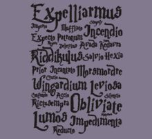 Harry Potter Spells, Magic Spelling Kids Tee