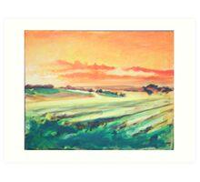 Sunrise in Yellow Art Print
