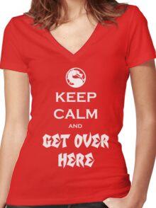 Mortal Kalmbat Women's Fitted V-Neck T-Shirt