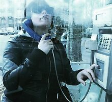 In the Phone Booth - Paris by zorobwalsh