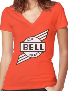 Bell Aircraft Company Retro Logo Women's Fitted V-Neck T-Shirt