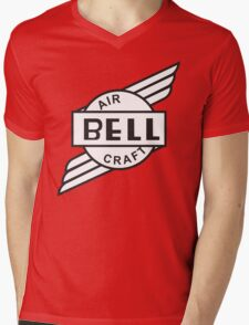 Bell Aircraft Company Retro Logo Mens V-Neck T-Shirt