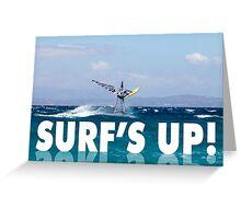 Surf's Up! Windsurfer Greeting Card