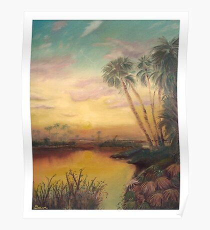 Saint Johns Sunset  Poster