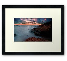 The Pacific… on the Rocks Framed Print
