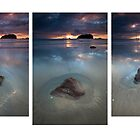 Motuotau Sand Pool Triptych by Ken Wright