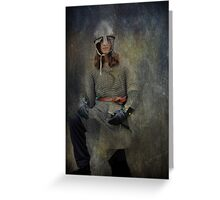 Silver Knight Greeting Card
