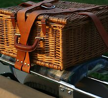 Antique MG Luggage Carrier  by Daniel  Oyvetsky