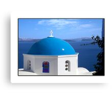 Greetings from Greece Canvas Print