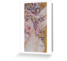 Lady of Snails Greeting Card