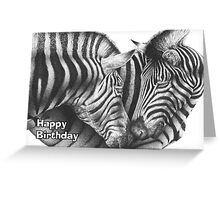 Zebras Birthday Card Greeting Card