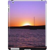 Paros Island, Greece - Sunset Behind Boat iPad Case/Skin