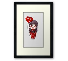 Valentine Chibi Framed Print