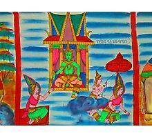 Scroll paining illustrating the Phra Vessandorn Birth Story Photographic Print
