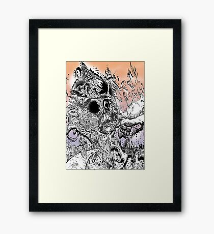Monsteroso Comic book pen drawing 1 Framed Print