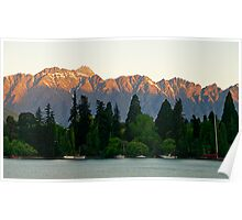 Remarkables Range, Queenstown, South Island , New Zealand. Poster