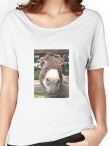 Close Up Cute Donkey Face Women's Relaxed Fit T-Shirt