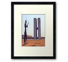Parliament Buildings, Brasilia, Brazil, 1972. Framed Print