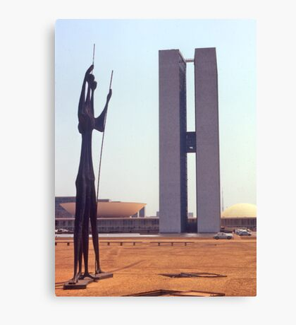 Parliament Buildings, Brasilia, Brazil, 1972. Canvas Print