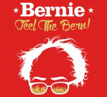 Bernie Hair Shirt with Flaming Sunglasses - Feel The Bern Kids Tee